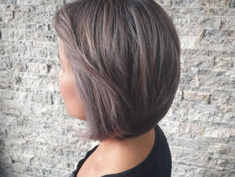 cut & color from black to greye